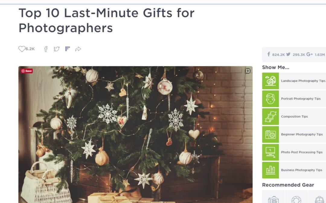 PhotographyTalk Last Minute Gift Ideas
