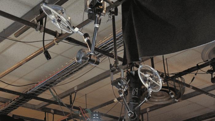 KLOVER MiK 09 parabolic microphones in studio ceiling grid (700x394)