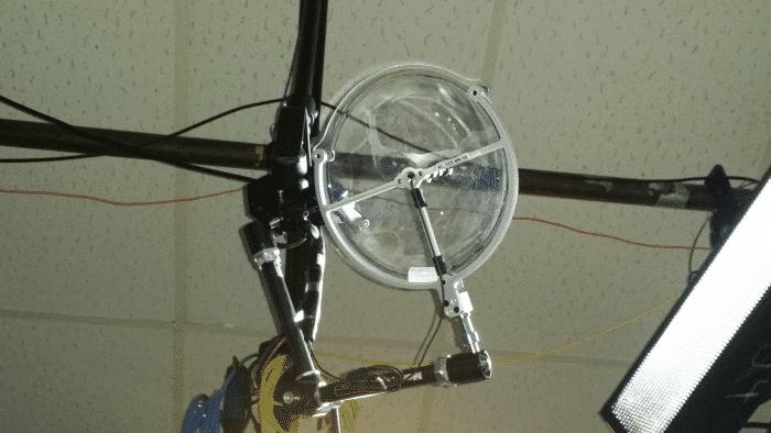 KLOVER MiK 09 parabolic microphone in studio ceiling grid (700x394)